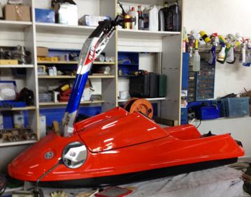 Jet ski réaliser en matériaux composites