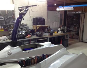 Reasalisation coque jet ski en matériaux composites